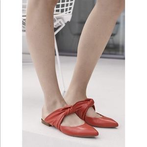 Lewit | Red Leather Cara Mule Knot